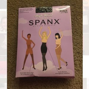 Black high waisted tights spanx in package
